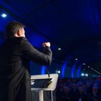 """Prime Minister Renzi inaugurates the """"Variante di Valico"""""""