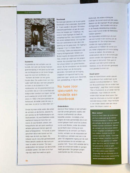 Tunnels van Leerdam in VIJF Magazine - interview.