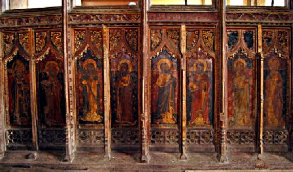 Rood Screen of St. Mary's church, Tunstead