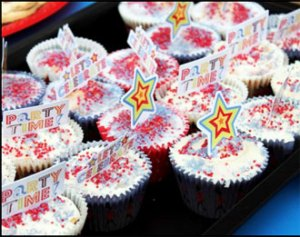 Queen's Diamond Jubilee decorated buns