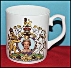 Queen's Diamond Jubilee commemorative mug