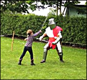 Sir Gavin's Knight lessons in swordsmanship