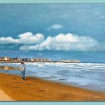 Heading Home Oil Painting by Frances Dewis
