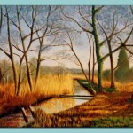 Hungate Marshes Oil Painting by Frances Dewis