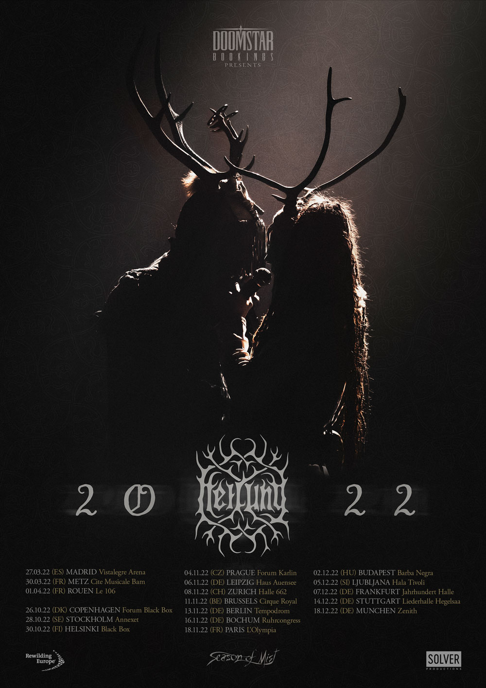 Heilung announce re-scheduled tour dates for 2021 / 2022 / 2023