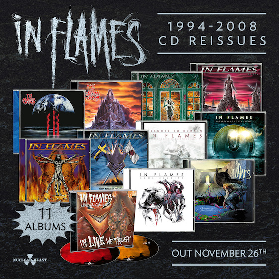 In Flames To Reissue Catalog (1994-2008) On CD November 26th!