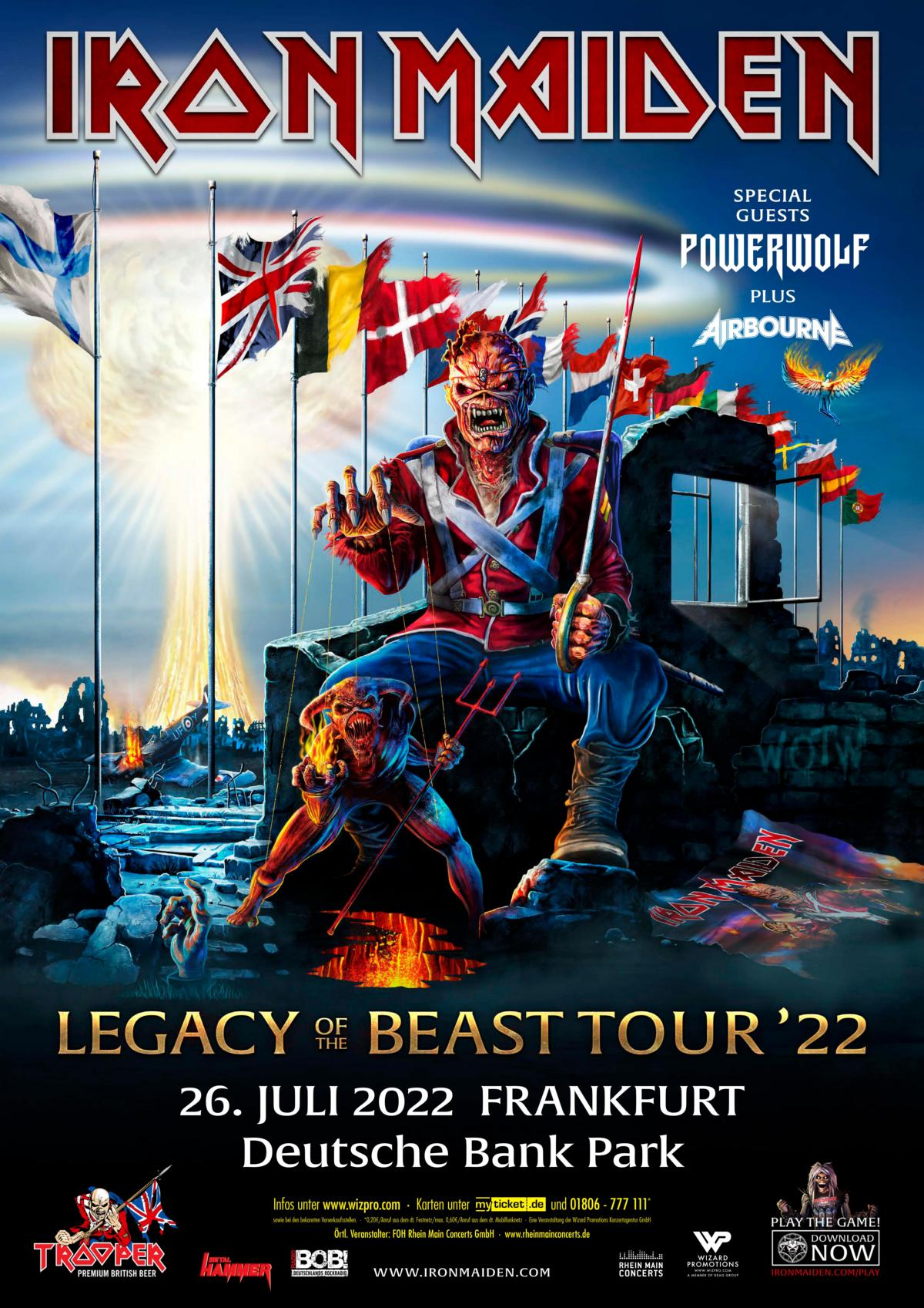 POWERWOLF Announces Second Show with Iron Maiden in Germany