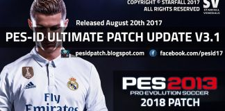 PES-ID Ultimate Patch 2013 v3.1 – Patch PES 2013 mới nhất 2017