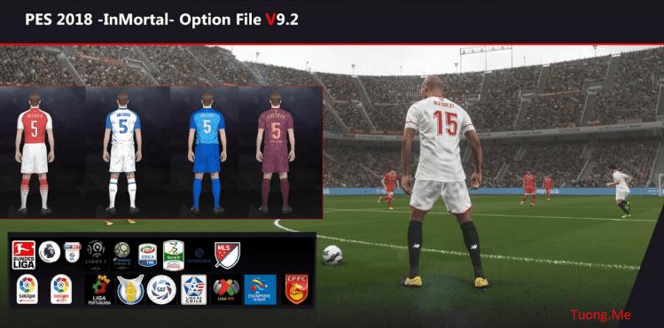 [Fshare] PES 2018 PC Option File 9.2 by InMortal Season 2017/2018