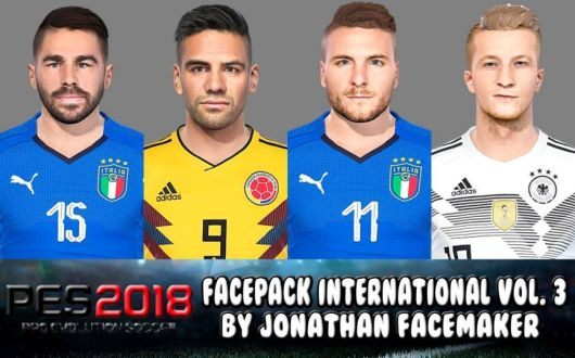 Tổng hợp Facepack cho PES 2018 của Jonathan Facemaker - Face PES 2018