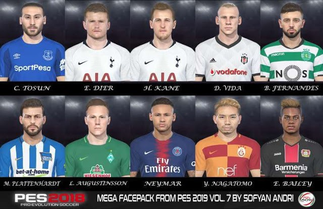 PES 2018 Mega Facepack From PES 2019 Vol. 7