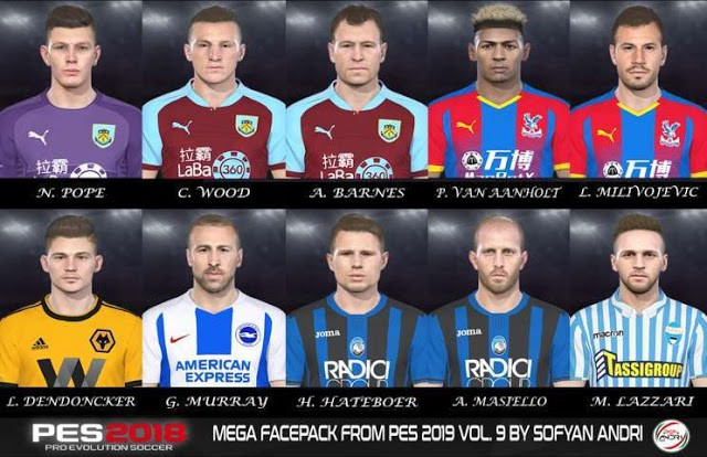 PES 2018 Mega Facepack From PES 2019 Vol. 9