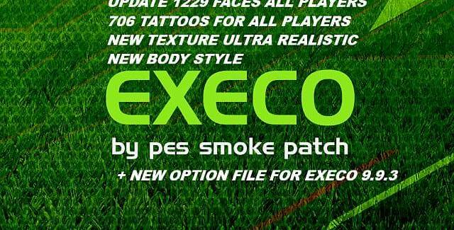 1200 Faces + 700 Tattoos cho PES 2017 Smoke Patch Execo