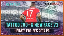 PES 2017 New Facepack + Tattoo (700 Tattoos) V3 - Facepack PES 2017