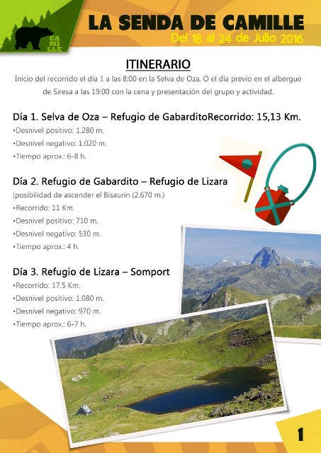 HOJA Trekking_la senda de Camille en Pirineos_Tupanga Ocio y Tiempo Libre