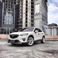 White Mazda CX-5 Simple Modification