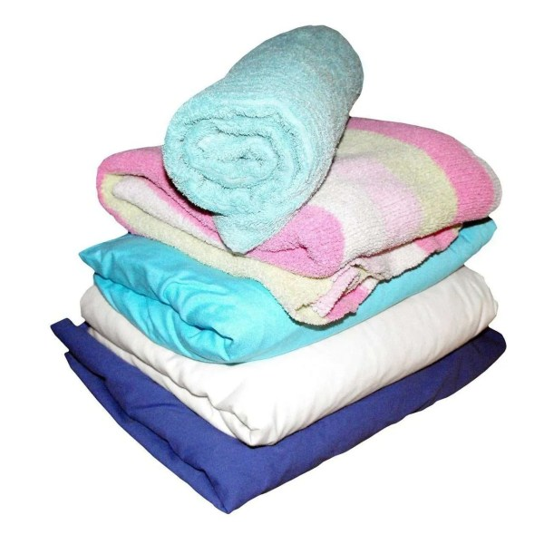 sheets, towels, blankets