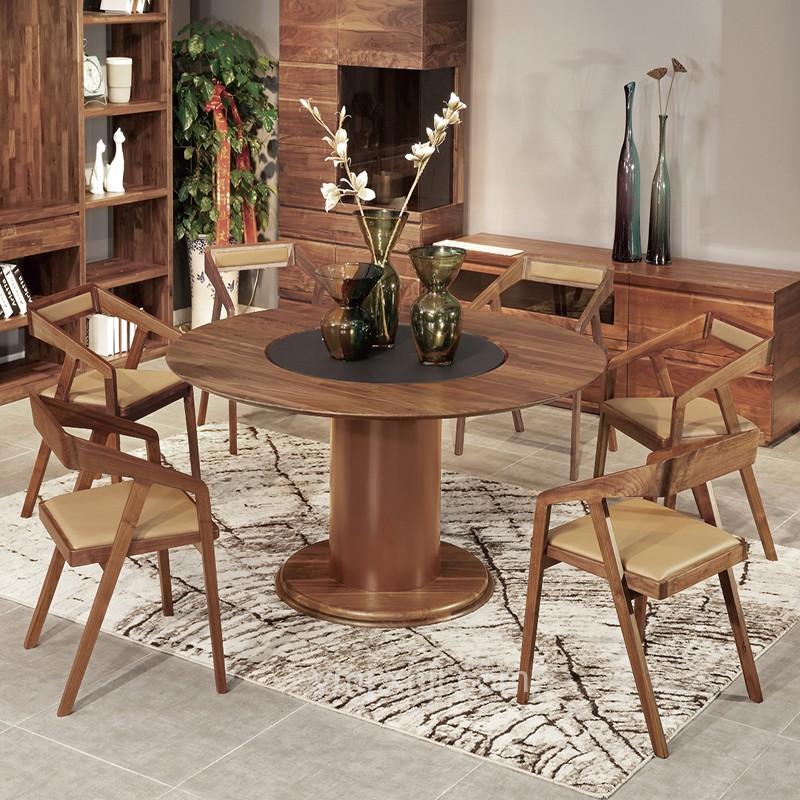 北歐簡約風格 北歐實木圓餐桌椅餐邊柜_MG_0517_產品中心_宜美居家具