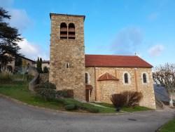 Photoextérieure de l'Eglise de Tupin et Semons pour illustrer la page découvrir Tupin et Semons sur le site de la mairie de Tupin et Semons www.tupinetsemons.fr