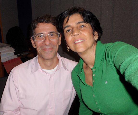 Alejandro Luy y Marisela Valero, autofoto porque no estaba Héctor Luna, nuestro operador fotógrafo