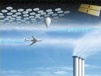 Ilustración de cómo sería el planeta con Geoingeniería. Foto BBC Mundo
