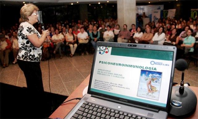 Charla de Psiconueroinmunologia patricinado por la fundacion Badan Lara dictado por la Doctora marianela Castes Boscan FECHA: 11/07/2012 fotografo: BILLY CASTRO