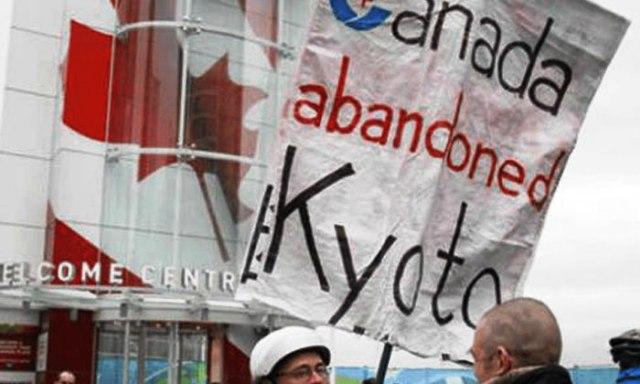 Canada no firmo el Protocolo de Kioto