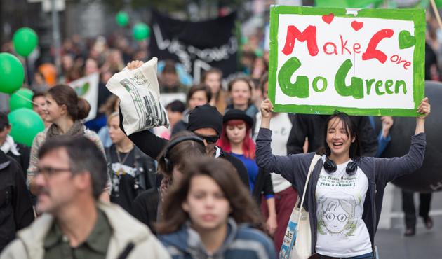 Berlín se sumó a la marcha contra el cambio climático