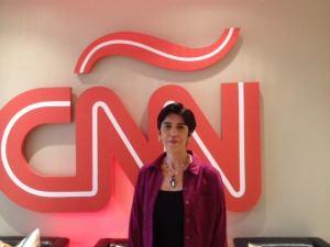 Marisela Valero en Cnn. Foto Raiza Perrault