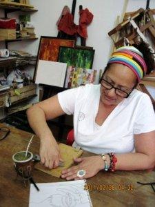 Judith Ghashghaie, artista plástico venezolana.