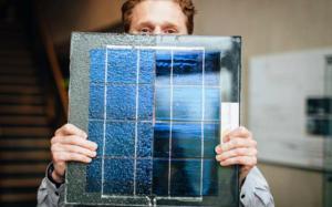 Panel solar sobre el que pedalearán los ciclistas