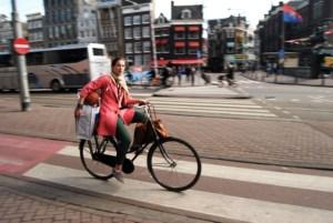 Con o sin carga la bicicleta es el vehículo ideal en Amsterdam