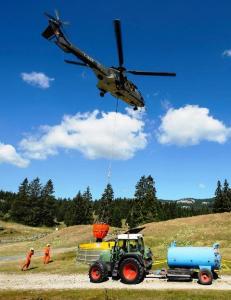 Ejército en plena operación de ayuda a las vacas.Foto:informactiva.mx