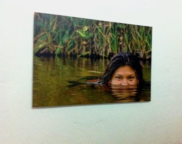 Luz María en una foto de la exposición.