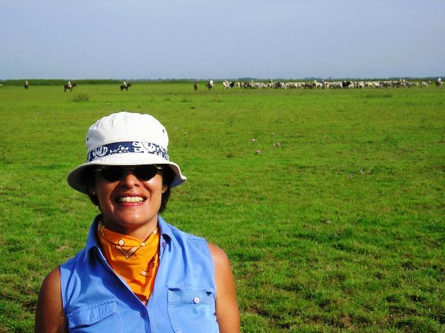 Ana Cristina Henriquez en sus Tierras de Agua Dulce