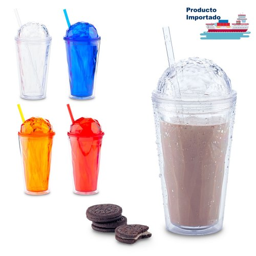 Vaso Pitillo Plástico Diamond 470ml