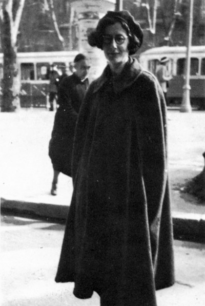 Simone Weil in Marseilles, fonte web