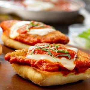 Open Faced Chicky Chicky Parm Parm