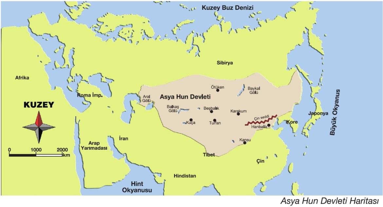 asya-hun-devleti-haritası