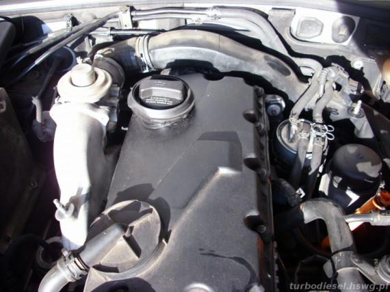 Silnik TDI po zdjęciu osłony