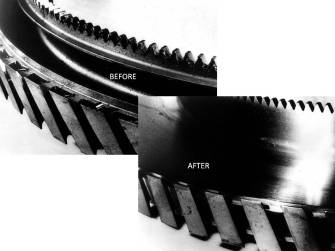 bEFORE AND AFTER Turbo-finish