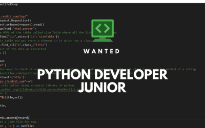 We are hiring Junior Python Developers to our data gathering team
