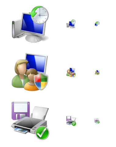 Mistakes in Windows Vista icons