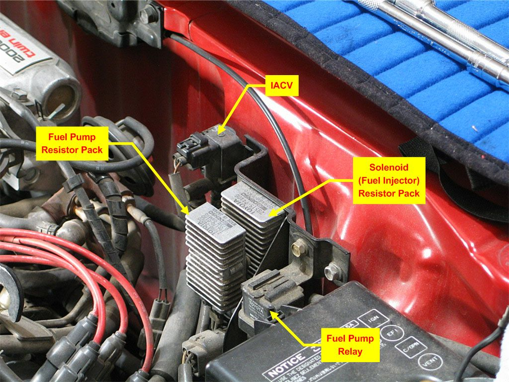 hight resolution of fuel pump relay and resistor pack needed mr2 owners club message board