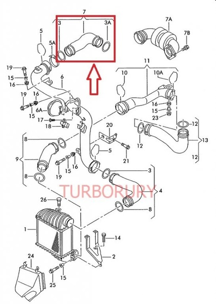 Audi A3 Turbo Pipe Diagram