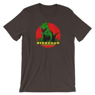 Retro T-Rex Dinosaur T-Shirt Vintage Tyrannosaurus Rex | Classic Tee (brown)