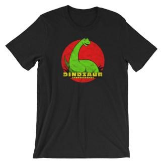 Retro Brontosaurus T-Shirt Vintage Dinosaur Design   Classic Tee (black)