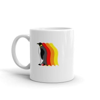 Moving Retro 1970s-Style Penguin Mug