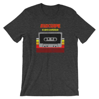 Retro Mixtape Design with 70s Distressed Style T-Shirt (grey)