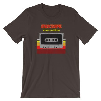 Retro Mixtape Design with 70s Distressed Style T-Shirt (brown)